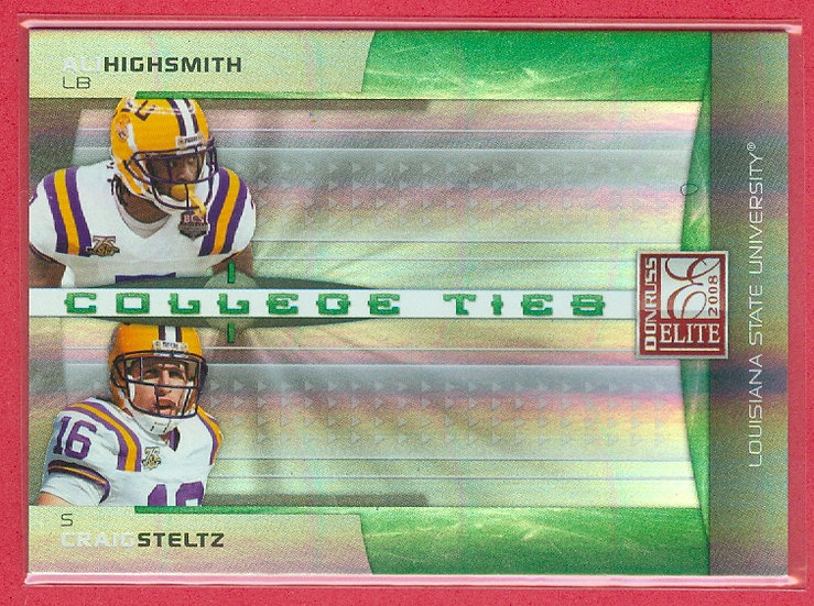 Ali Highsmith/Craig Steltz RC FOIL CARD #d 070/800