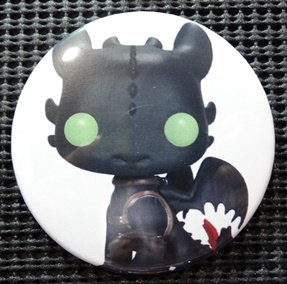 """TOOTHLESS"" FUNKO POP CULTURE 3"" PIN-BACK COLLECTOR COMIC BUTTON"