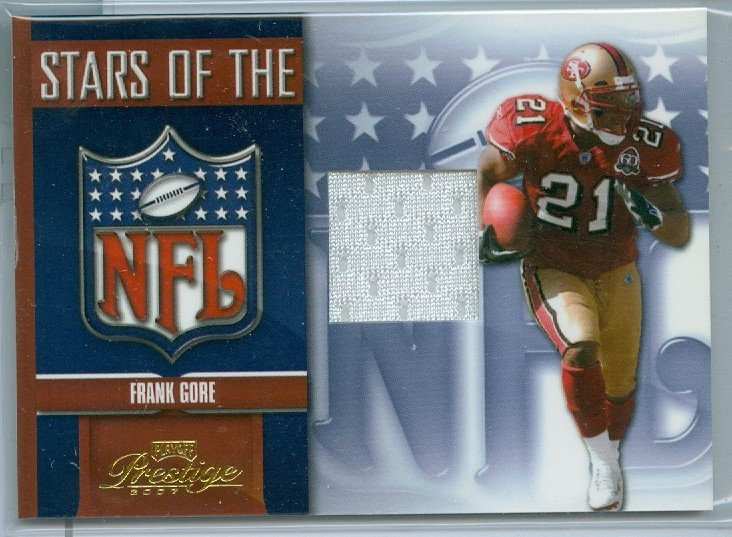 """Frank Gore"" SP STARS OF NFL GAME JERSEY CARD"