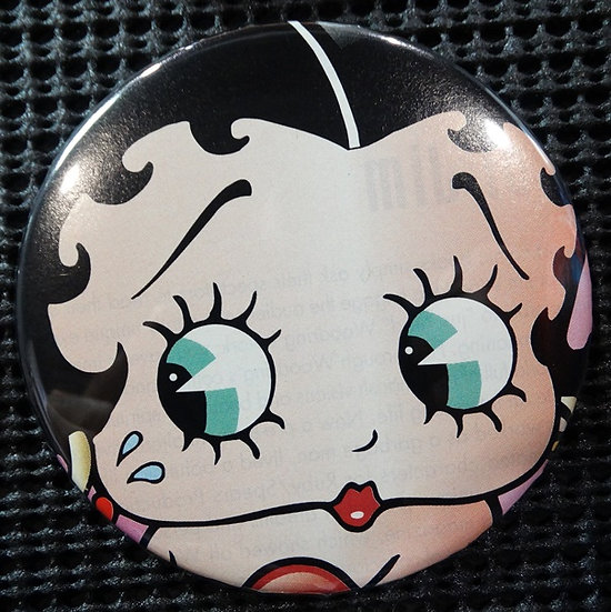 """BETTY BOOP"" POP CULTURE 3"" PINBACK/PIN-BACK COMIC BUTTON"