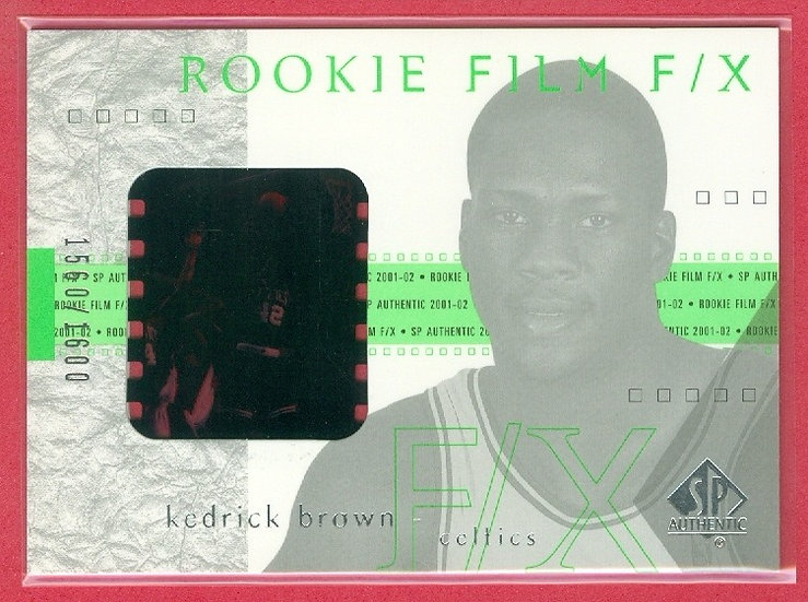 Kedrick Brown SP RC GAME FILM FX CARD #d 1560/1600