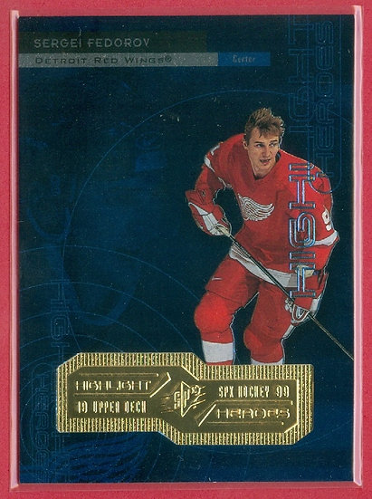 """""""Sergei Fedorov"""" SPx FOIL CHASE CARD #H15"""