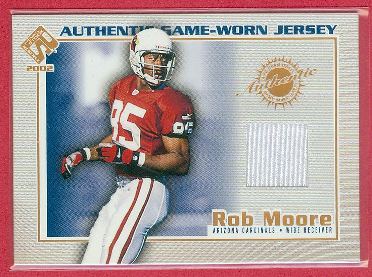 """""""Rob Moore"""" SP GAME-USED JERSEY CHASE CARD #5"""