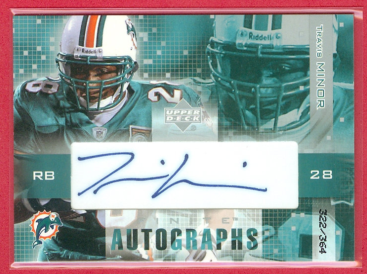 """""""Travis Minor"""" SP RC AUTO CHASE CARD #d 322/364"""