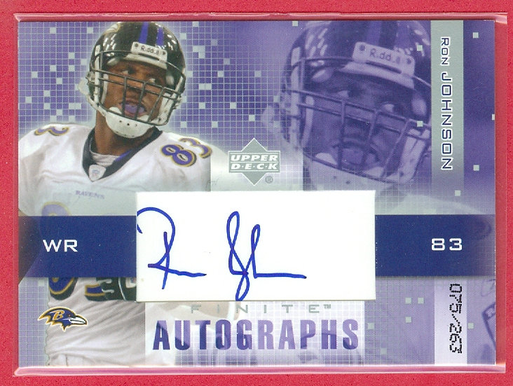 """""""Ron Johnson"""" SP RC AUTO CHASE CARD #d 075/263"""