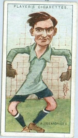 "1925 PLAYER'S ""Albert Iremonger"" TOBACCO CARD #16"