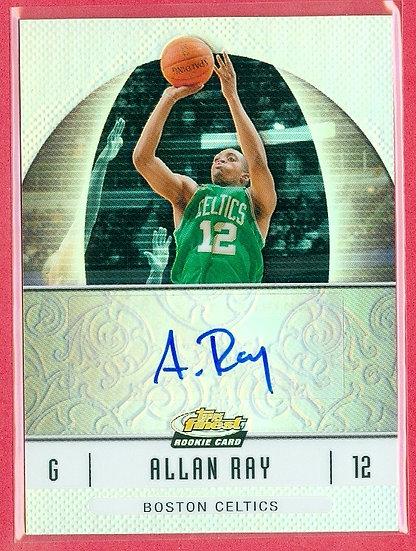 """Allan Ray"" SP ROOKIE CHROME REFR AUTOGRAPH CARD"