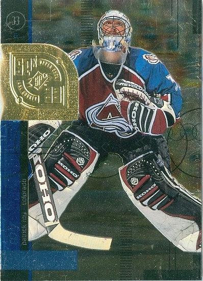 """Patrick Roy"" 1998-99 SPx HOCKEY FOIL CARD #14"