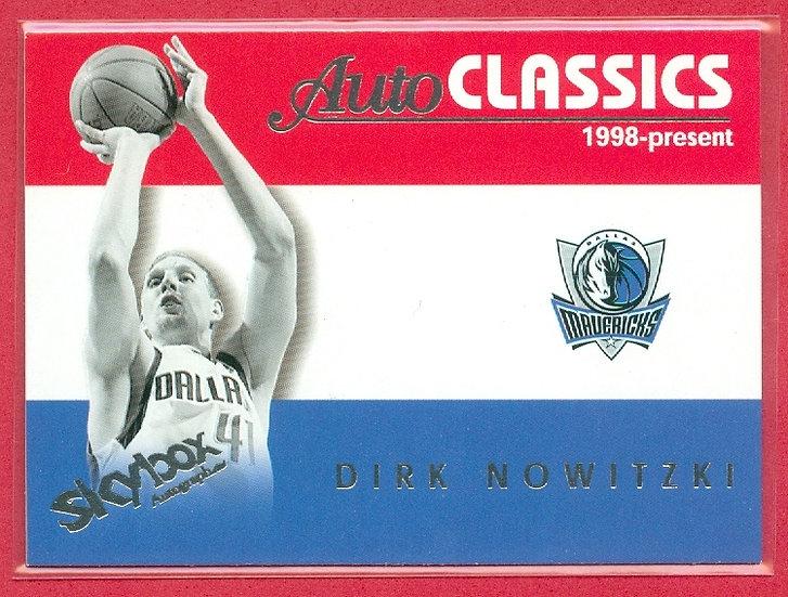 """Dirk Nowitzki"" AutoCLASSICS CHASE CARD #11AC"