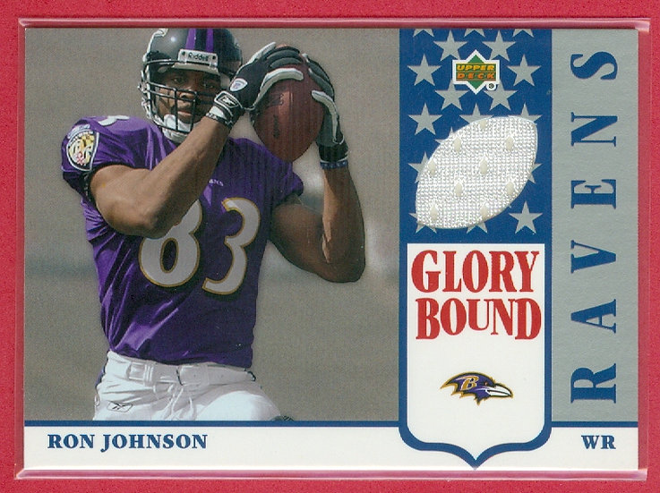 """Ron Johnson"" SP RC JERSEY CHASE CARD #GBJ-RJ"