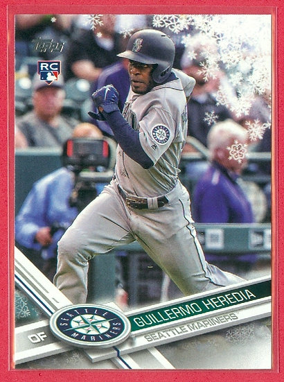 """Guillermo Heredia"" 2017 TOPPS HOLIDAY RC #HMW101"