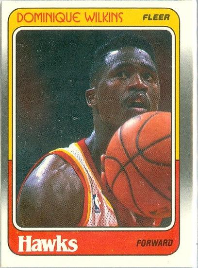 "VINTAGE 1988-89 FLEER ""Dominique Wilkins"" CARD #5"
