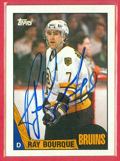 """""""Ray Bourque"""" IN PERSON/THROUGH THE MAIL AUTO"""