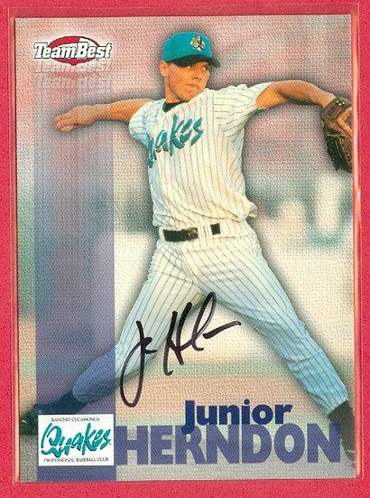 """Junior Herndon"" TEAM BEST SP RC AUTOGRAPH CARD"