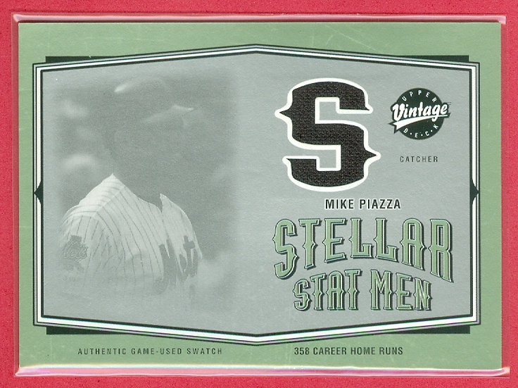 Mike Piazza SP GAME-USED JERSEY RELIC CARD #SSM-30