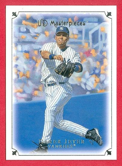 """Derek Jeter"" 2007 UD MASTERPIECES CARD #30"