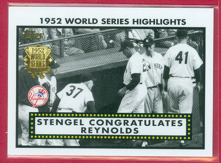 "2002 TOPPS SP ""1952 WORLD SERIES"" CHASE CRD #52WS6"