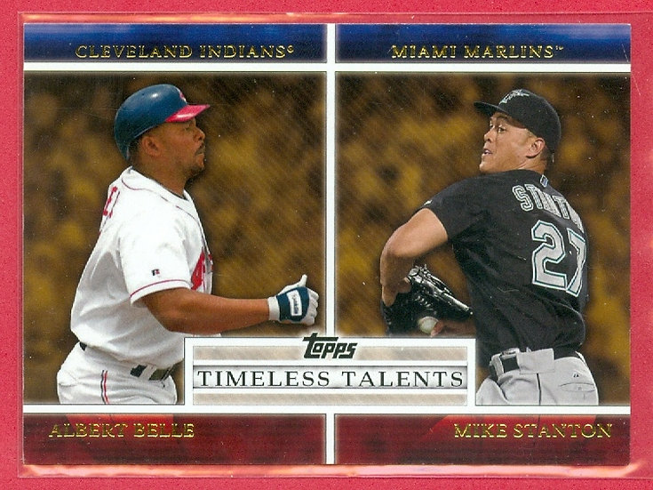 """""""Albert Belle/Giancarlo Mike Stanton"""" CHASE CARD"""