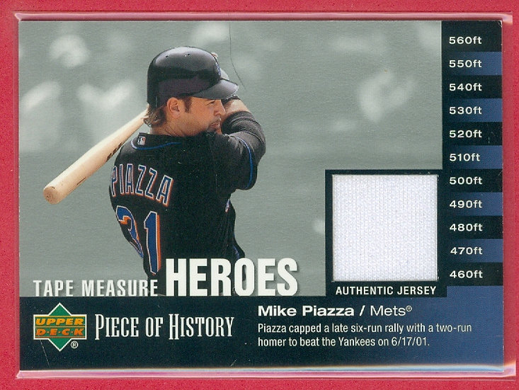 Mike Piazza SP GAME-USED JERSEY RELIC CARD #TM-MP