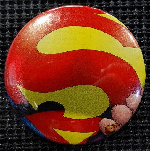 """SUPERGIRL"" LOGO/EMBLEM POP CULTURE 3"" PINBACK/PIN-BACK COMIC BUTTON"