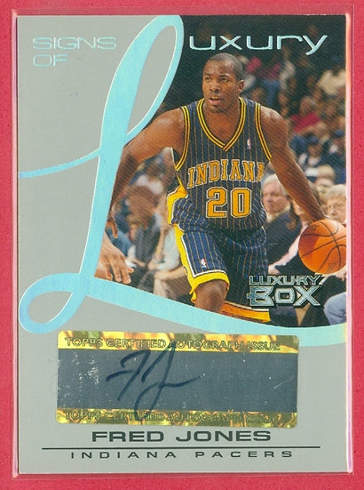 """""""Fred Jones"""" SP AUTOGRAPH CHASE CARD #d 002/100"""
