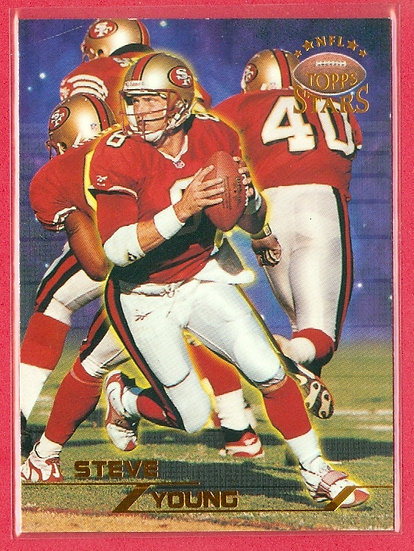 """""""Steve Young"""" BRONZE FOIL CHASE CARD #d 7507/8799"""