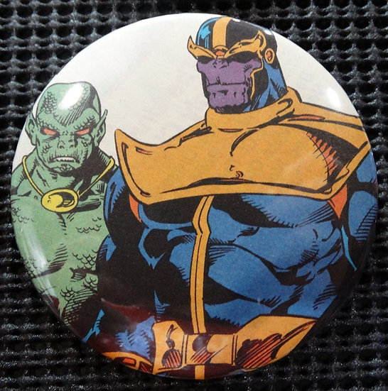 """THANOS"" POP CULTURE 3"" PINBACK/PIN-BACK COMIC BUTTON"