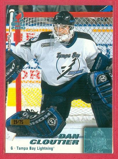 """""""Dan Cloutier"""" ICE BLUE FOIL VARIANT CARD #d 19/75"""