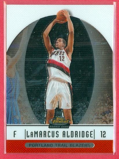 LaMarcus Aldridge TOPPS FINEST CHROME RC CARD #96