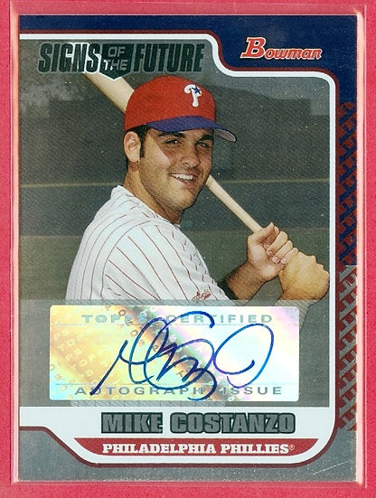 """Mike Costanzo"" SP RC AUTOGRAPH CHASE CARD #SOF-MC"