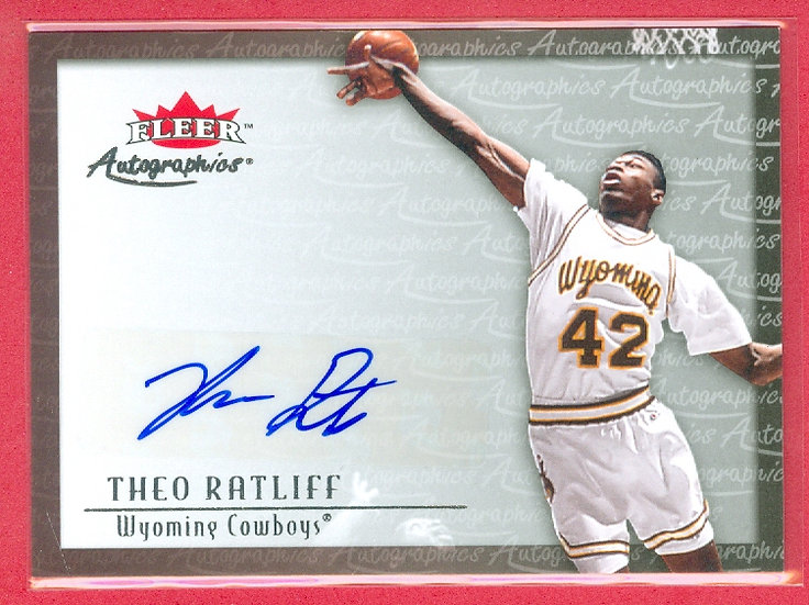 """""""Theo Ratliff"""" SP """"AUTOGRAPHics"""" CHASE CARD"""
