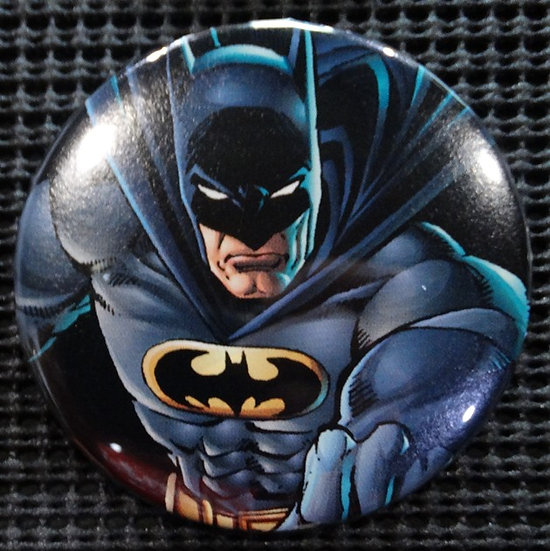 """BATMAN/JUSTICE LEAGUE"" POP CULTURE 3"" PINBACK/PIN-BACK COMIC BUTTON"