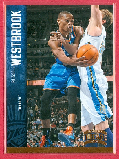 Russell Westbrook 2012-13 PANINI THREADS CARD #99