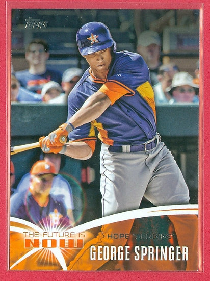 George Springer 2014 TOPPS SP RC CHASE CRD #FN-GS1
