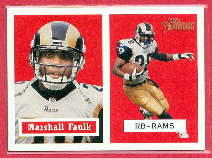 """Marshall Faulk"" 2002 TOPPS HERITAGE SP CARD #64"