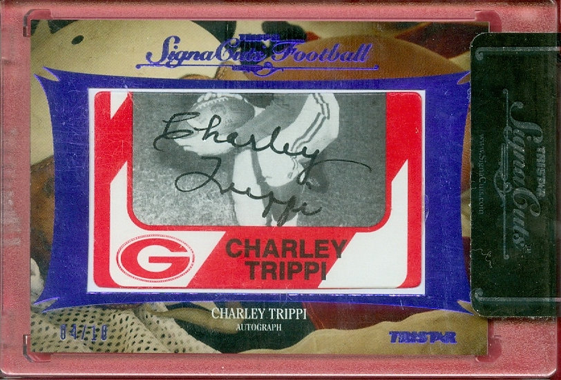 Charley Trippi HOF SSP CUT SIGNATURE CARD #d 04/10