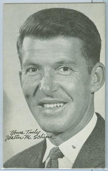 """""""Walter Schirra"""" NASA PENNY ARCADE EXHIBIT CARD"""