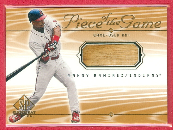 """Manny Ramirez"" SP GAME-USED BAT RELIC CARD #MR"