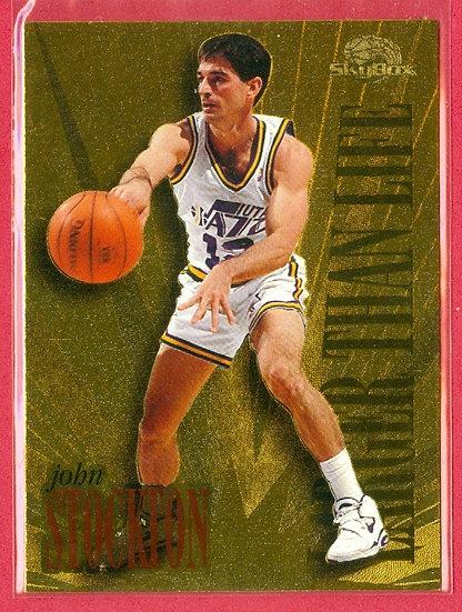 """John Stockton"" HOF - SKYBOX FOIL CHASE CARD #L10"
