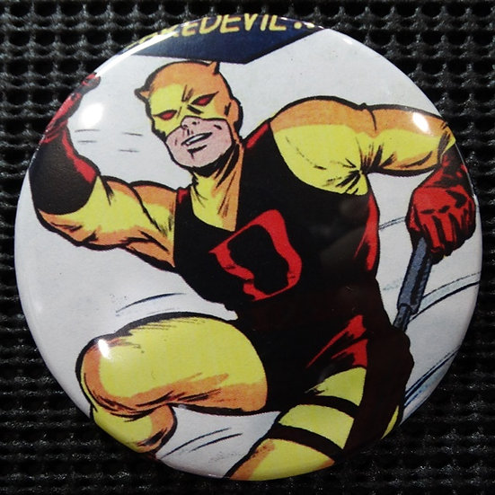 "RETRO ""DAREDEVIL"" POP CULTURE 3"" PINBACK/PIN-BACK COMIC BUTTON"