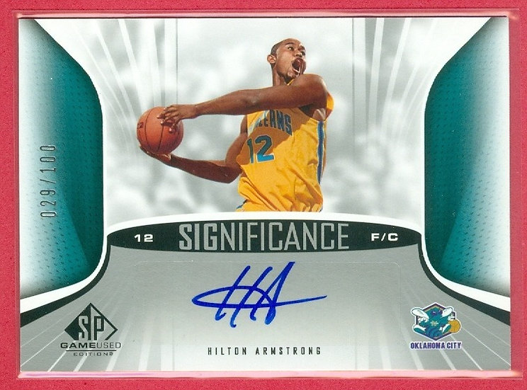 Hilton Armstrong SP AUTO CHASE CARD #'ed 029/100