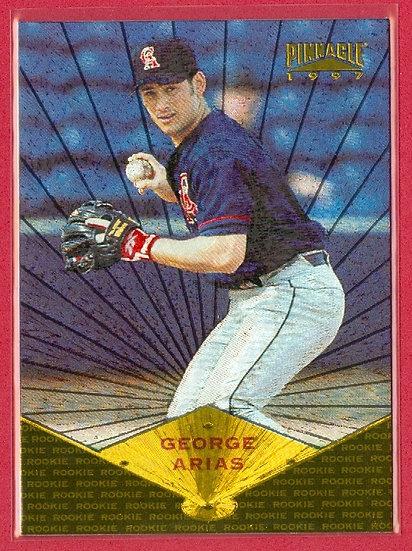 """""""George Arias"""" 1997 PINNACLE PARALLEL RC CARD #167"""