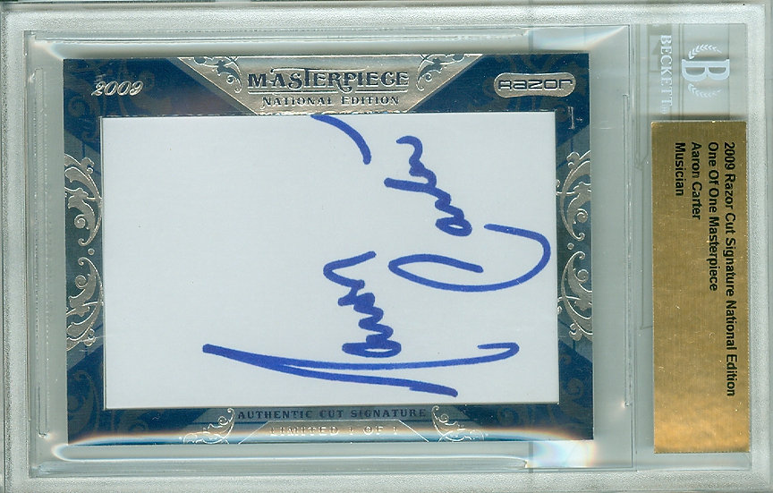 """Aaron Carter"" AUTHENTIC CUT SIGNATURE #d 1/1"