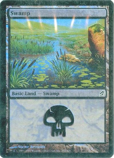 "2007 MTG ""Swamp"" FOIL GAMING CARD - MINT"