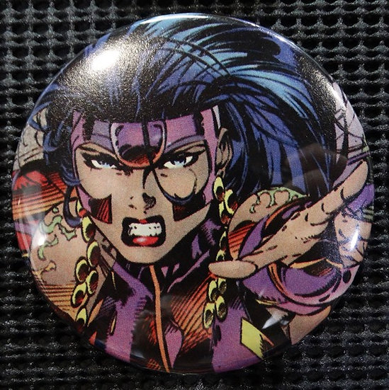 """VOODOO/WildCATS"" POP CULTURE 3"" PINBACK/PIN-BACK COMIC BUTTON"