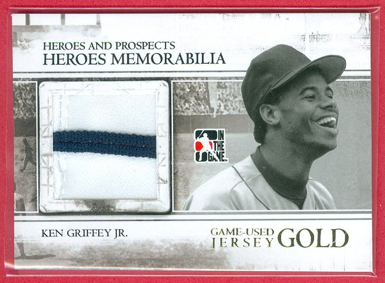 """Ken Griffey Jr"" 2-COLOR JUMBO JERSEY PATCH GOLD CARD #HM-23"