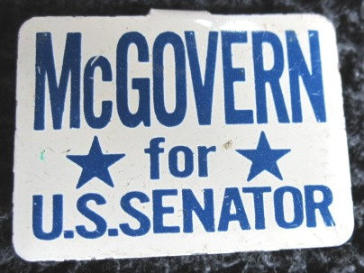 "1968 George ""McGOVERN for U.S. SENATOR"" METAL PIN"