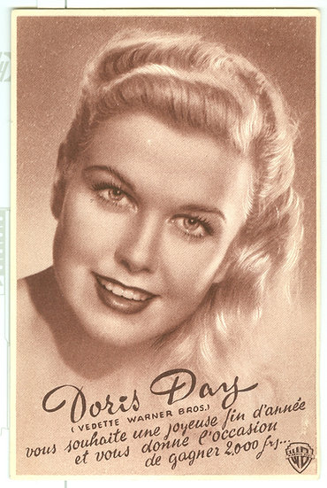 """EXTREMELY RARE 1950's """"Doris Day"""" FRENCH FLYER"""