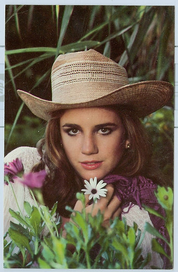 """Melissa Gilbert"" VINTAGE 1981 UNUSED POSTCARD"