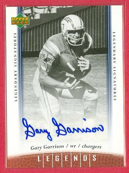 """Gary Garrison"" LEGENDS AUTOGRAPH CHASE CARD #93"